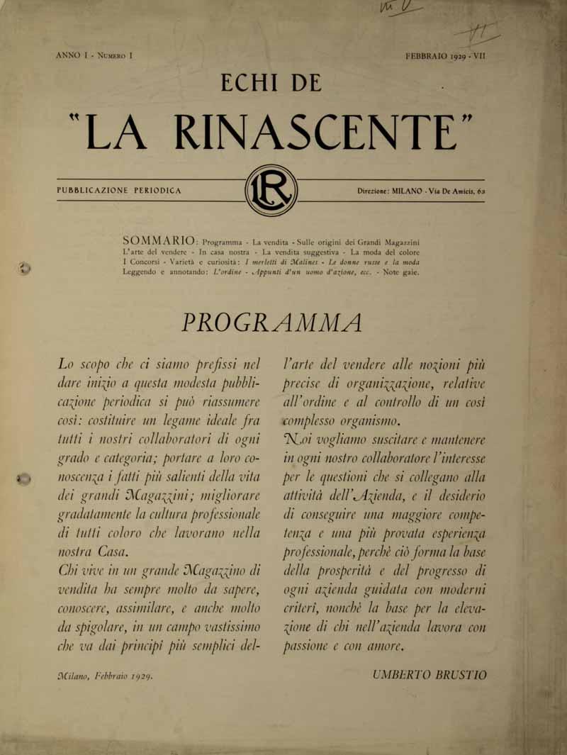 "7 — ""Echi de la Rinascente"" 3ea4700cc53"